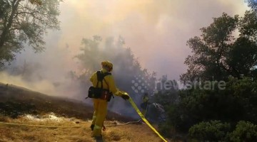 Firefighters battle 38-acre Masonic Fire