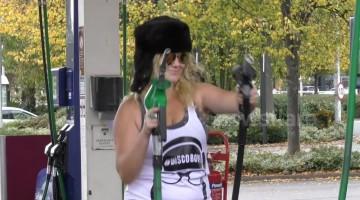 UK prankster sets up rave on petrol station forecourt