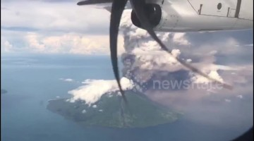Aerial footage captures eruption of Papua New Guinea's Manam volcano