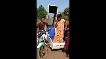 India's motorcycle-ambulances help save lives in remote areas