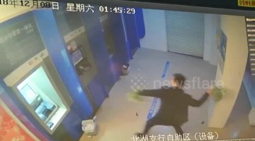 Alleged drunk man destroys ATM machines after bank card was swallowed
