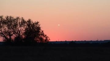 UFO Sighting at Sunset