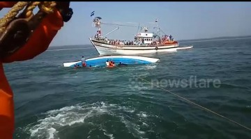 Eight dead, one missing as ferry capsizes off south India