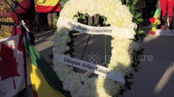 Vigil in Toronto, Canada for victims of Max 8 Ethiopian airlines plane crash
