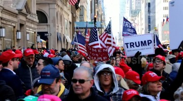 Happy no collusion day! Trump supporters take to streets of New York