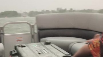 Trying to Outrun Hail in a Speed Boat