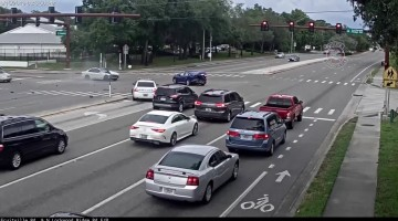 Police release video of car running red light, causing crash