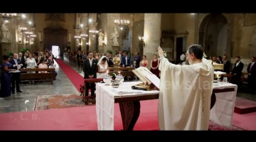 Incredible moment lightning causes Italian church to lose power during final blessing at wedding