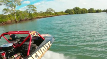 Racing Drone Beats Jet Boat in 200 KPH Race