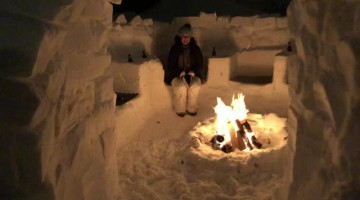 Snow Bound Couple Builds Mind-Blowing Snow Fort