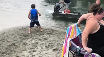 Boy Gets Blasted By Boat