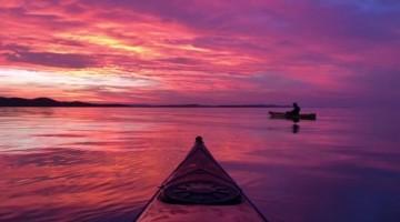 Kayaking under a Breathtaking Croatian Sunset