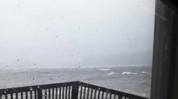 Huge Waves Wreck Deck