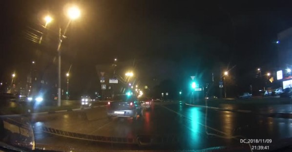 Two Car Accident and Pedestrian Close Call