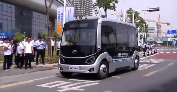 China opens world's first 5G self-driving bus line