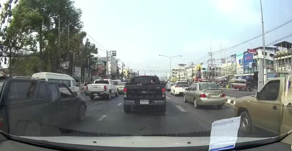 Blind Man Helped Through Heavy Traffic