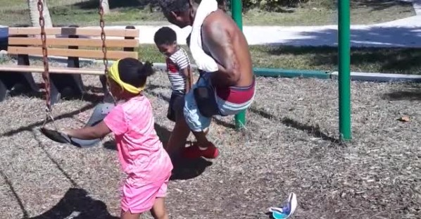 Grandpa Saves Grandson From Falling Off Swing