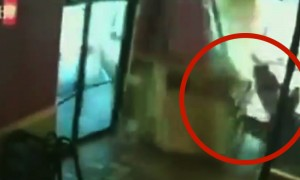 Amazing Video Of A Mother Saving Herself And Her Child From Certain Death