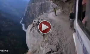 Watch This Insane Bus Ride On The Himalayas.