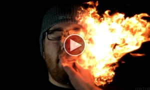 Watch An Awesome Fire Bending Performance In Ultra Slow Motion