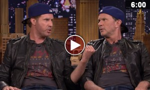 Watch This Epic Drum Off Between Will Ferrell And Chad Smith On The Tonight Show