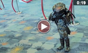 Cutest Child 'Predator' EVER!!