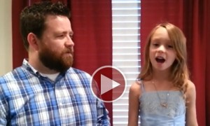 Father - Daughter Duo Lip Sync To ' Love Is An Open Door' And Its The Most Amazing Thing I Have Ever Seen
