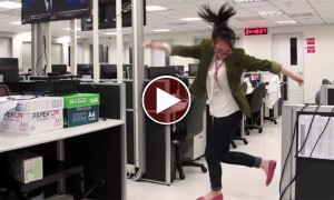 She Turned The Office Into A Dance Floor So That She Could Do This. She Is My Role Model!