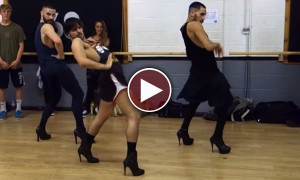 Three Men In High Heels Out Dance Beyonce
