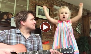 Dad And Kid Perform 'My Roots Grow Down' And It Is SUPER CUTE
