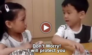 This Video Of Cute Boy Comforting A Little Girl In The First Day Of School Left A Big Smile On My Face