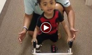 This One Year Old Amputee Didn't Let Go! Watch A Real Fighter Give It All He Has Got