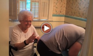 Grandson Does Something Very SPECIAL For His Grandma On Her 100 Birthday! It Just Made Me Smile