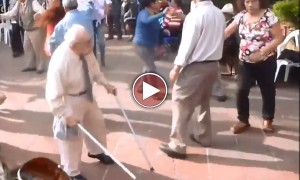 This Old Man Throws Away His Crutches And Does Something You Won't Believe!