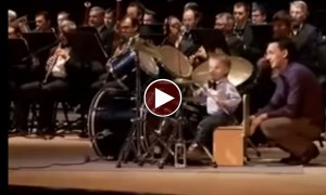 Are Those Drum Beats Coming Out From A 3 Year Old Kid?? Incredible!!