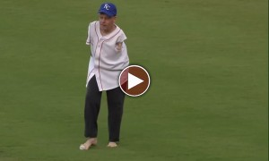 A Man With No Arms Throws A Phenomenal First Pitch. Incredible!