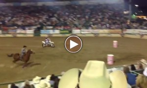 Oh My!! Cowboy Made This Dirt Biker Kiss Goodbye From The Race?!