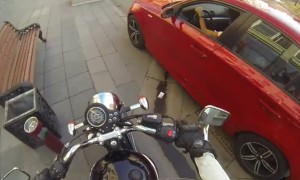 Watch This Russian Anti Littering Biker Chick Go About Her Day