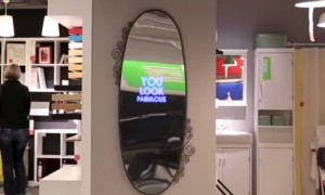 This Mirror Is Designed To Give You A Morale Boost And Make Your Day Better