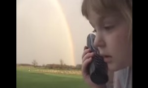 Cute Girl Sees A Rainbow And Leaves The Most Adorable Message For Grandma