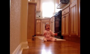 Watch How This Little Girl React To Seeing Her Father Come Home