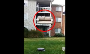 Is This The Dumbest Or The Smartest Way To Move A Couch. You Decide