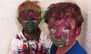 Kids Get Paint All Over Their Faces. But Their Dad's Reaction Was Unexpected!