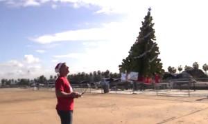 Man Builds Flying Christmas Tree. Wins Christmas!