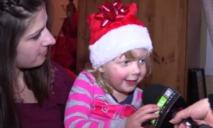 You Won't Believe What This Little Girl Got For Christmas