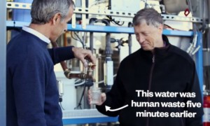 Watch Bill Gates Drink Water Made From Human Sewage Just Moments Before