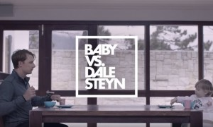 See how World's No. 1 fast bowler Dale Steyn loses to a little baby