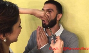 Watch how Deepika chops off Ranveer Singh's moustache after Bajirao Mastani release
