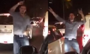 See how this man turned the boring traffic jam into a fun party