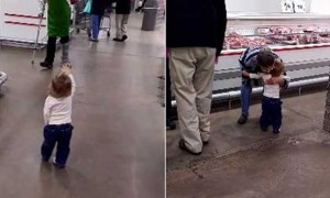 This adorable kid spreading love and joy by greeting strangers in a cutest way, watch video